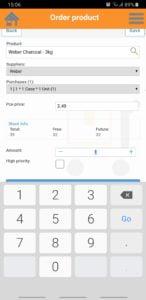 RetailVista Mobile - Purchase orders